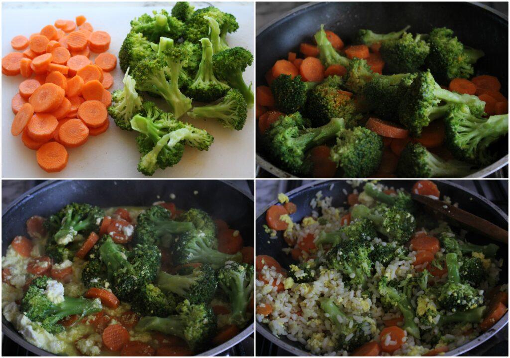 Come preparare riso e verdure