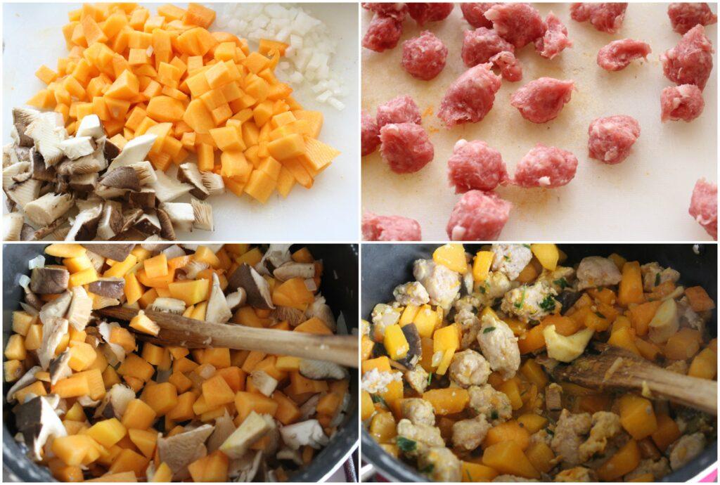 Come preparare la pasta zucca e salsiccia