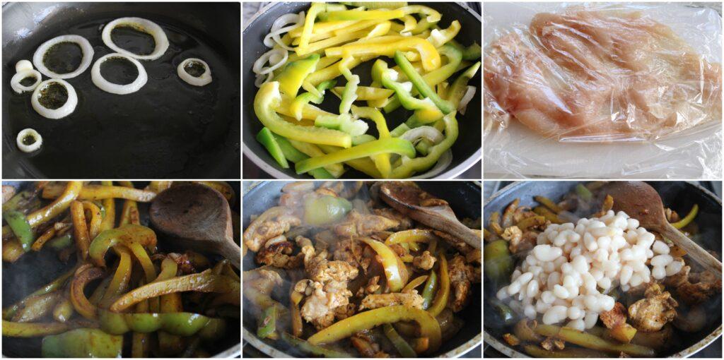 Come cucinare fagioli e peperoni