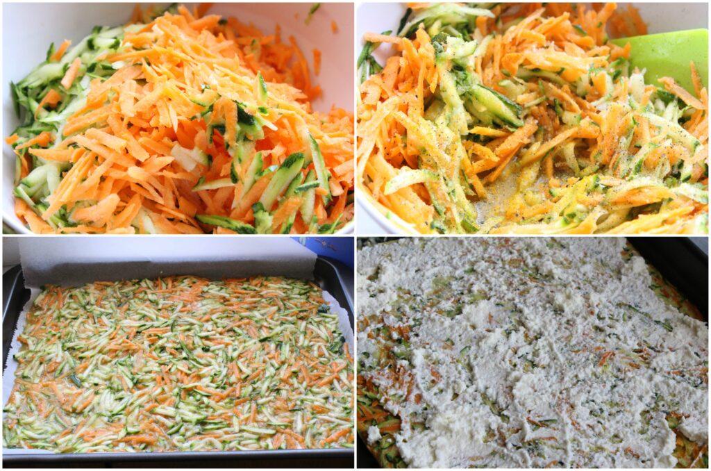 Come fare un rotolo di zucchine e carote