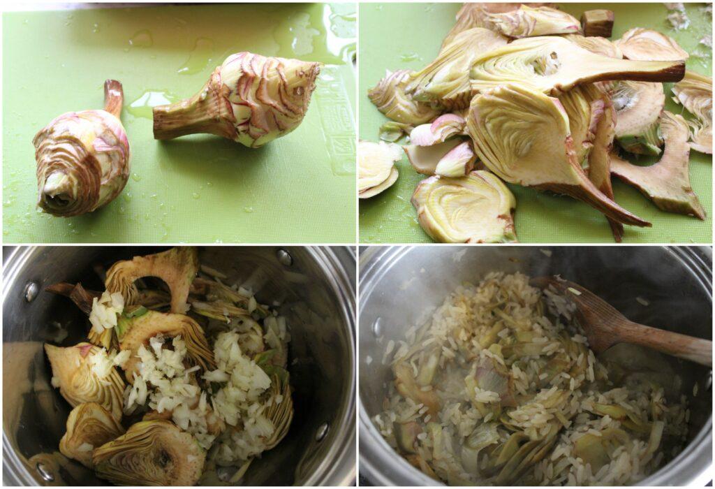 Come fare un risotto ai carciofi