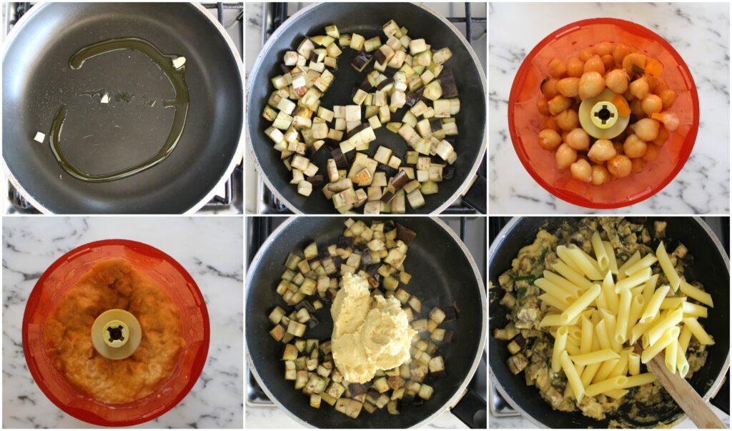Come fare la pasta con humus di ceci