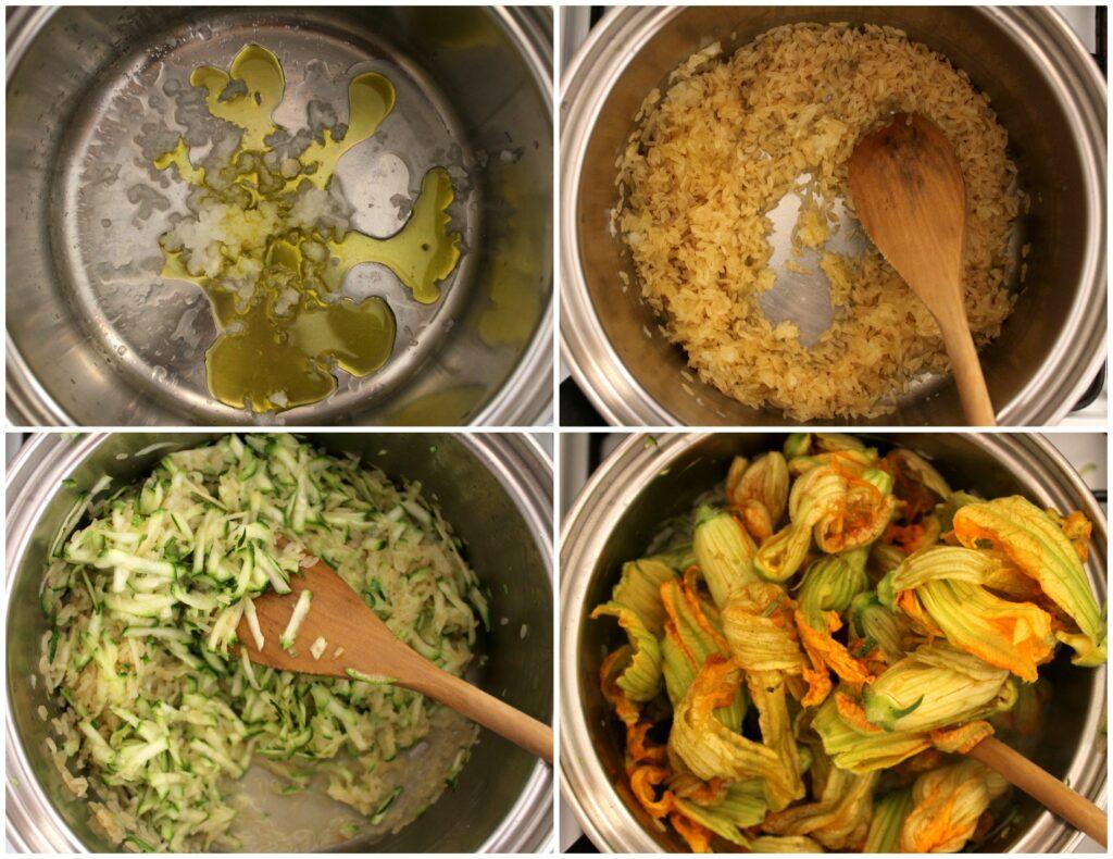 Come fare il risotto ai fiori di zucca