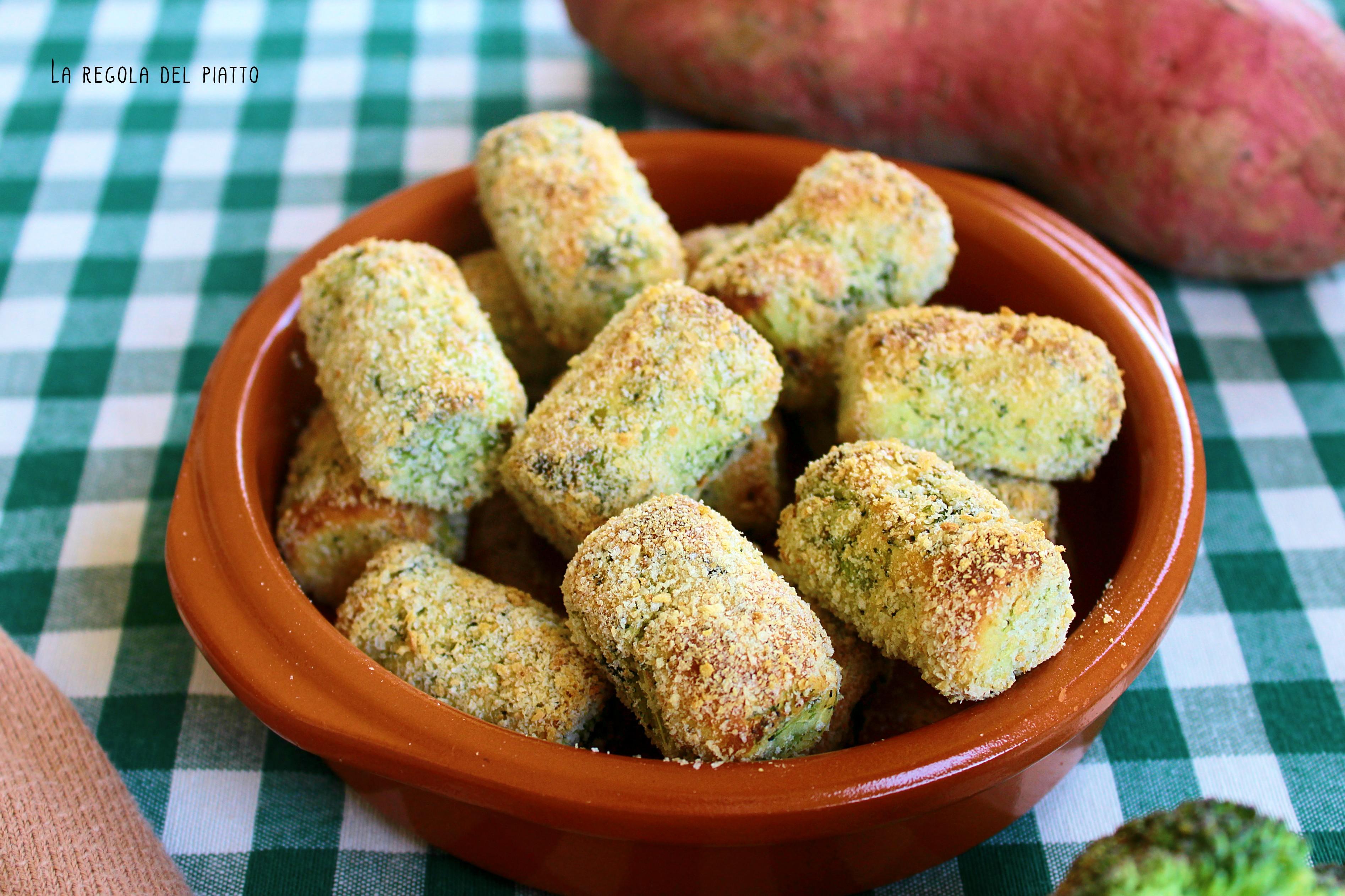 Crocchette vegane di patate dolci e broccoliCrocchette vegane di patate dolci e broccoli