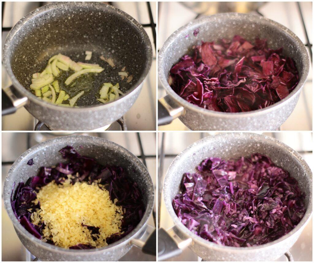 Come fare un risotto viola