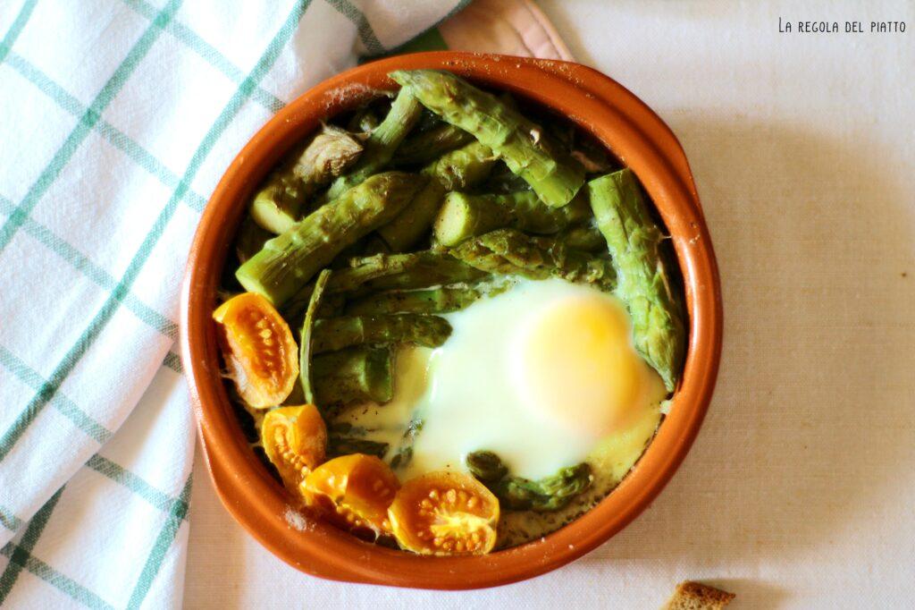 Terrina di asparagi e uova