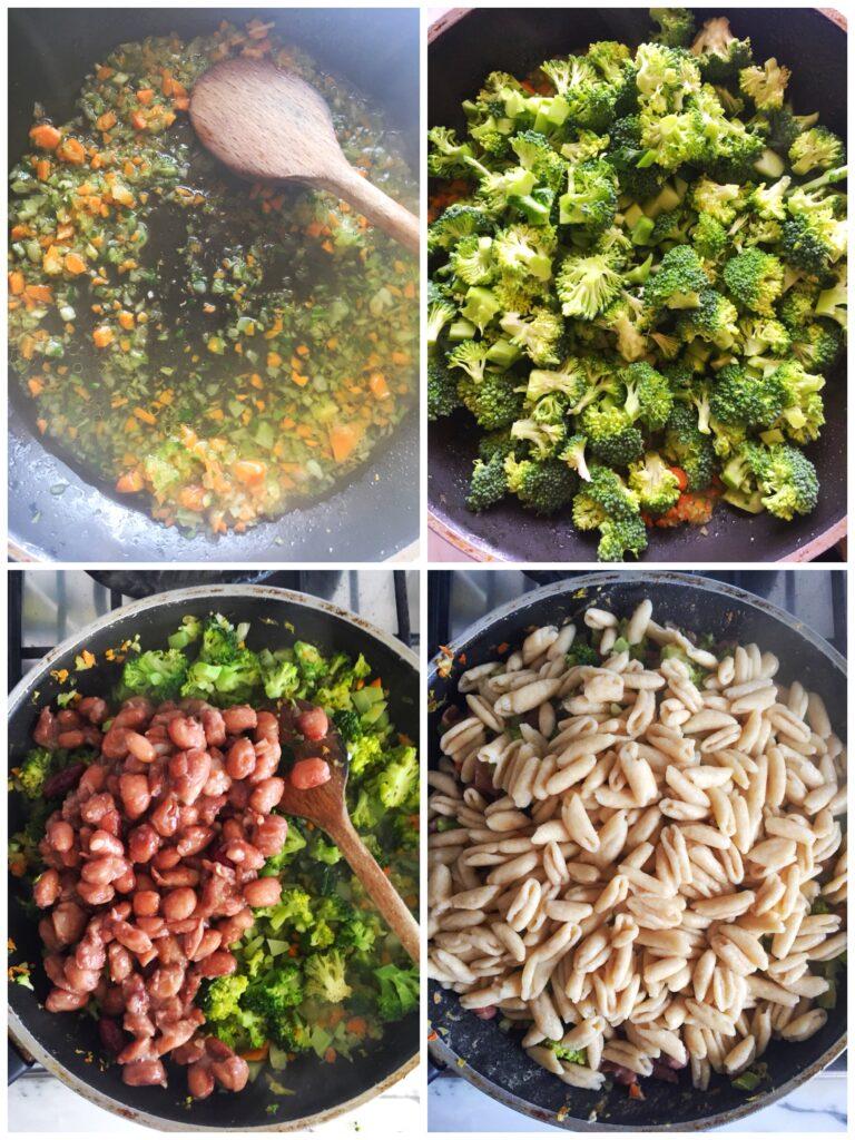 Come fare la pasta con broccoli e fagioli