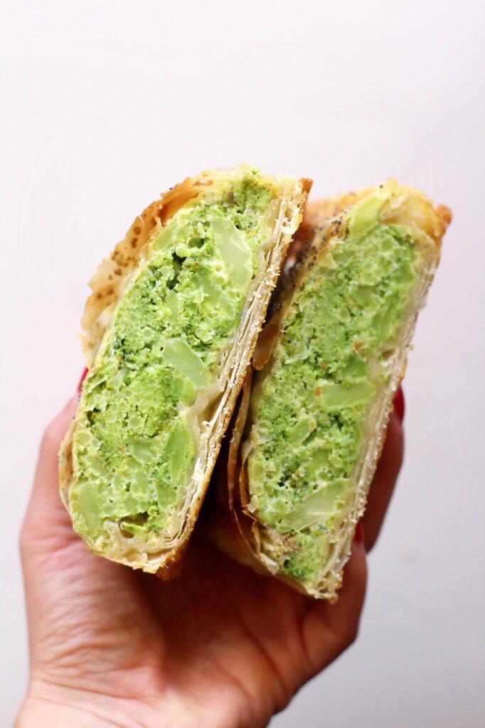 Pasta Fillo ripiena di Broccoli