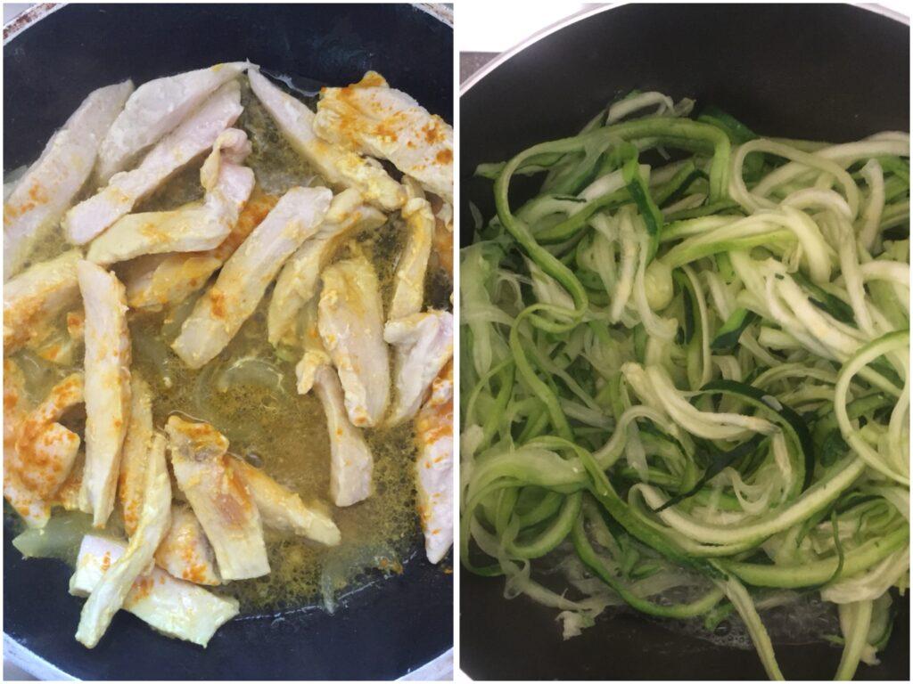 Come fare i noodles con il pollo