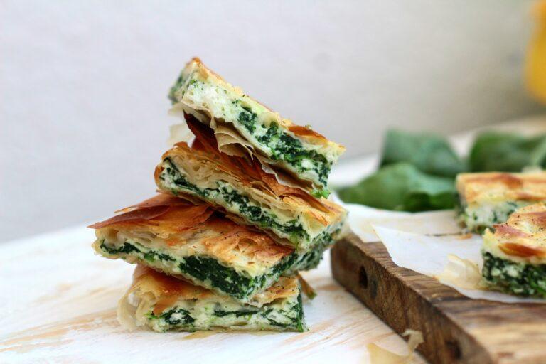 Pasta fillo ricotta e spinaci